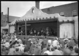Dancers from Jemez Pueblo performing for Fiesta, Patio of the Palace of the Governors, Santa Fe,...