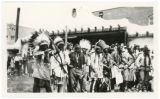 Bow and arrow [archery] contest, Fiesta, Patio of the Palace of the Governors, Santa Fe, New...