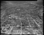 Aerial view, including intersection of Old Pecos Trail and Cordova Road, Santa Fe, New Mexico