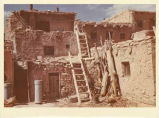 Homes with mica glazed windows in upper story, Acoma Pueblo, New Mexico