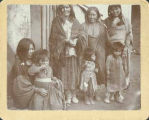 Apache women and children at unknown Indian School