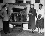From left to right artist Ernest L. Blumenschein, Mary Greene Blumenschein and Helen Greene...
