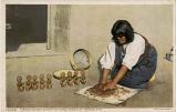 """Tesuque Woman Making Rain Gods, Pueblo of Tesuque, New Mexico"""