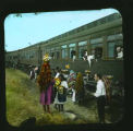 """Isleta Indians Meeting Train, New Mexico"""