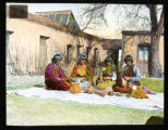 """Women Making Pottery in Courtyard of the Palace of the Governors, Santa Fe, New Mexico"""