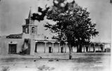 Church, commissary and Officers' Quarters, Los Pinos encampment, New Mexico