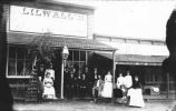 Group in front of William Lilwall's Restaurant, Kingston, New Mexico