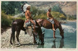 """Apaches Halting for Water at Rio Navajo, Arizona"""