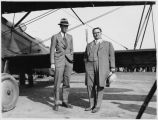 Charles Lindbergh and Mayor Clyde Tingley, Albuquerque, New Mexico