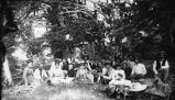 Group on a picnic near mining area of Hillsboro and Kingston, New Mexico