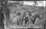 Men on horseback, mining area of Hillsboro and Kingston, New Mexico