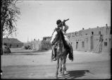 Man on horseback, San Ildefonso Pueblo, New Mexico