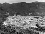 Aerial view of Los Alamos Scientific Laboratory, Los Alamos, New Mexico