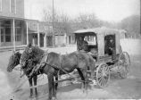 Mail carriers in horse buggy, mining area of Kingston and Hillsboro, New Mexico