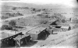View of Happy Flat area in the mining village of Hillsboro, New Mexico
