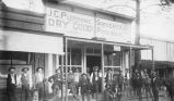 Large group outside J.C. Plemmons General Store and Post Office, Hermosa, New Mexico