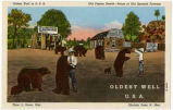 """Oldest Well in U.S.A., Old Pigeon Ranch - Ruins of Old Spanish Fortress, Glorieta Pass,New..."
