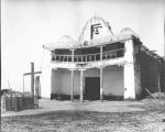 """The Church at Cochiti before the Padre sold the timbers, bells, etc. to the Santa Fe..."