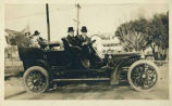 Fannie and Adolph Bandelier in car