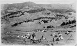 Mescalero Apache camp, Tularosa Valley, New Mexico