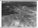 Aerial view, arroyo between Winslow, Arizona and Canyon de Chelly (del Muerto)