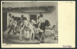 """Shongrapair Children (Hopis) On Burro-On Dress Parade"""