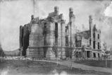 Ruins of the territorial Capital Building (built 1886, burned 1892), Santa Fe, New Mexico