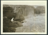 Ina Sizer Cassidy at Canyon de Chelly, Arizona