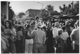 Indian Market crowd, Santa Fe, New Mexico