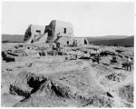 View of the CCC ruin stabilization project at Pecos Mission, New Mexico