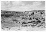 View of Chettro Kettle at Chaco Canyon National Monument, New Mexico