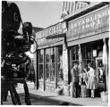 Television movie being filmed on West San Francisco Street in front of Candelario's Original Curio...