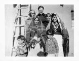 Father James Brody with group at Isleta Pueblo, New Mexico