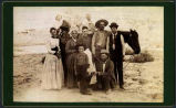 "Group including members of the Cobb family and ""Blossom"" the horse, New Mexico"