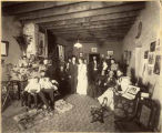 Wedding of Eddie Ross and William H. Cobb, Arthur Ross Ranch near Albuquerque, New Mexico,...