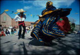 Folk dancers at Rancho de Las Golandrinas Living Museum near Santa Fe, New Mexico