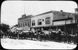Wagon train in Clayton, New Mexico