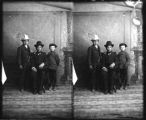 Portrait of man and two young boys,Socorro, New Mexico