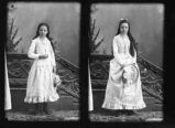 Double portrait of young woman, Socorro, New Mexico