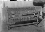 Spanish Colonial church bench, Penasco, New Mexico