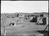 Entrance to main plaza from Southwest corner, Jemez Pueblo, New Mexico