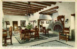 """The Lobby, Hotel El Ortiz, Lamy, New Mexico"""
