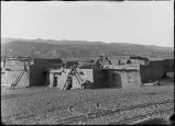 Jemez Pueblo looking Northwest, show home of Christina Yepa's father in center, New Mexico