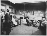Warren E. Rollins (1861-1962) in his studio, Palace of the Governors, Santa Fe, New Mexico