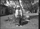 Joe Chavarilla, Santa Clara Pueblo in courtyard of Palace of the Governors, Santa Fe, New Mexico