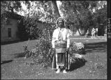 Damacio Tafoya, Santa Clara Pueblo in courtyard of Palace of the Governors, Santa Fe, New Mexico