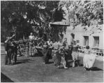 Dancers in the courtyard of the Palace of the Governors, Santa Fe, New Mexico