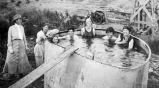 Women bathing in water tank, Women's Land Army of New Mexico
