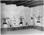 Replicas of Kuaua murals painted by Zena Kavin (1940) for display at Coronado State Monument, New...