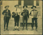 """Season's Greetings from Pete Malaney and The Riders of the Rio Grande. Rusty, Pete, Clyde..."